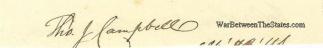 Autographs, Thomas Jefferson Campbell & Washington Barrow (Image1)