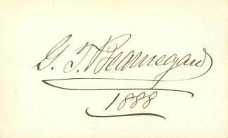 Autograph, General P.G.T. Beauregard (Image1)