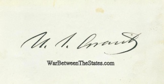 Autograph, General Ulysses S. Grant (Image1)
