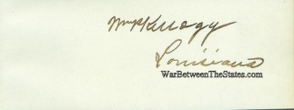 Autograph, William P. Kellogg