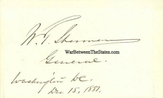 Autograph, General William T. Sherman