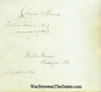 Autographs, Union Civil War Nurses, 1864-1865 (Image1)