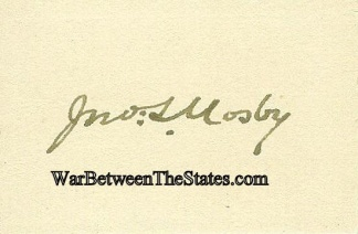 Autograph, Colonel John S. Mosby