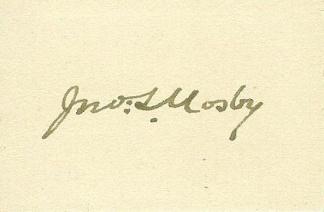 Autograph, Colonel John S. Mosby (Image1)