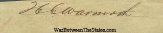 Autograph, Lieutenant Colonel Henry C. Warmoth (Image1)