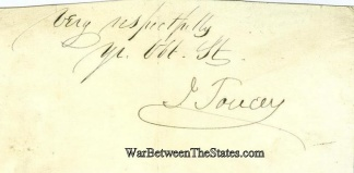 Autograph, Isaac Toucey (Image1)