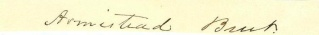 Autograph, Armistead Burt (Image1)