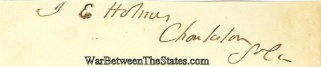 Autograph, Isaac E. Holmes (Image1)