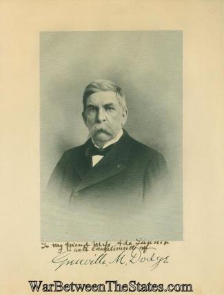 Autograph, General Grenville M. Dodge (Image1)