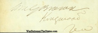 Autograph, William G. Brown (Image1)