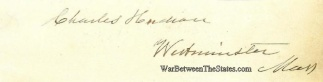 Autograph, Charles Hudson (Image1)