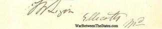 Autograph, Thomas W. Ligon (Image1)