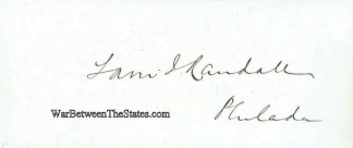 Autograph, Samuel J. Randall (Image1)