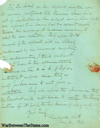 Autograph, General Winfield Scott (Image1)