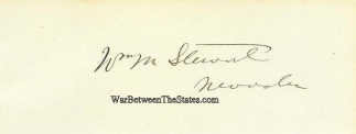 Autograph, William M. Stewart