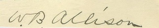 Autograph, William B. Allison