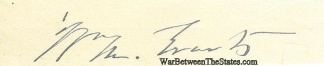 Autograph, William M. Evarts