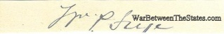 Autograph, William P. Frye