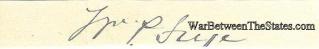 Autograph, William P. Frye (Image1)