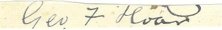 Autograph, George F. Hoar