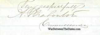 Autograph, General Alfred Plesanton (Image1)