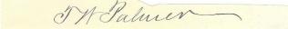 Autograph, Thomas W. Palmer (Image1)
