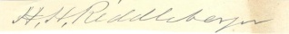 Autograph, Harrison H. Riddleberger