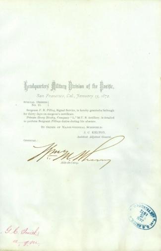 Autograph, General William M. Wherry (Image1)