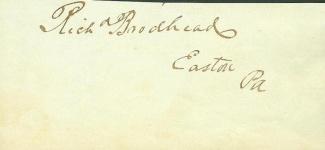 Autograph, Richard Brodhead (Image1)