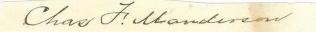 Autograph, General Charles F. Manderson (Image1)