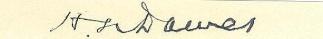 Autograph, Henry L. Dawes (Image1)