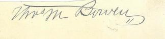 Autograph, General Thomas M. Bowen (Image1)