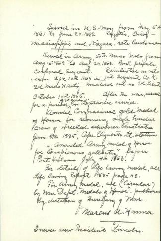 Autograph, Marcus A. Hanna (Image1)