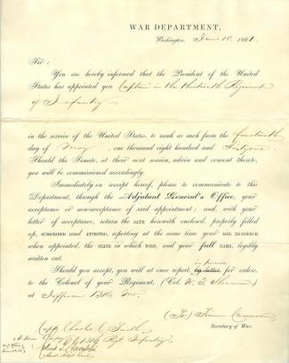Autograph, Colonel Julius P. Garesche (Image1)