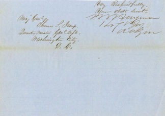 Autograph, General Samuel B. Hayman (Image1)