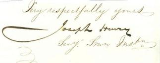 Autograph, Professor Joseph Henry (Image1)
