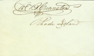 Autograph, Robert B. Cranston (Image1)