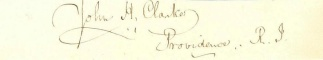 Autograph, John H. Clarke (Image1)