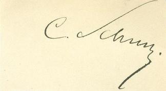 Autograph, General Carl Schurz (Image1)