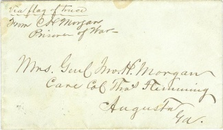 Captain Charlton Hunt Morgan Signed & Addressed P.O.W. Cover (Image1)