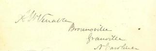 Autograph, Abraham W. Venable (Image1)