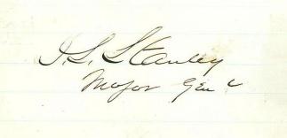 Autograph, General David S. Stanley (Image1)