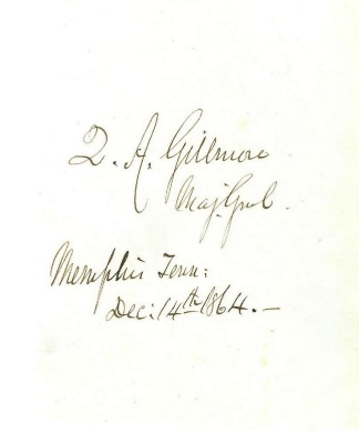 Autograph, General Quincy A. Gillmore (Image1)
