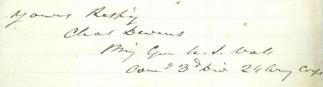 Autograph, General Charles Devens (Image1)
