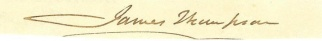 Autograph, James Thompson (Image1)