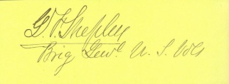 Autograph, General George F. Shepley (Image1)