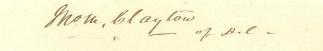 Autograph, John M. Clayton (Image1)