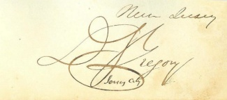 Autograph, Dudley S. Gregory (Image1)