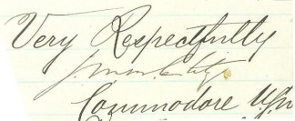 Autograph, Commodore John M.B. Clitz, U.S. Navy (Image1)