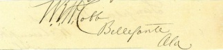 Autograph, William R.W. Cobb (Image1)